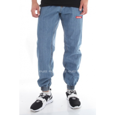 SPODNIE ILLEGAL JOGGER ILL SLIM STRECZ GUMA SMALL RED LIGHT JEANS