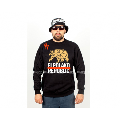 BLUZA EL POLAKO BEZ KAPTURA REPUBLIC BLACK