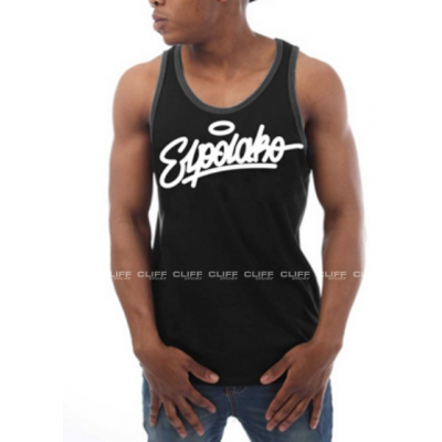 TANK TOP EL POLAKO HANDWRITTEN BLACK