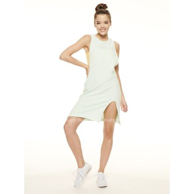 SUKIENKA SSG GIRLS FROTTE TANK DRESS BŁĘKIT YELLOW