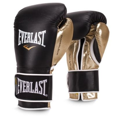 Rękawice Sparringowe EVERLAST POWERLOCK BLACK/GOLD 14 OZ