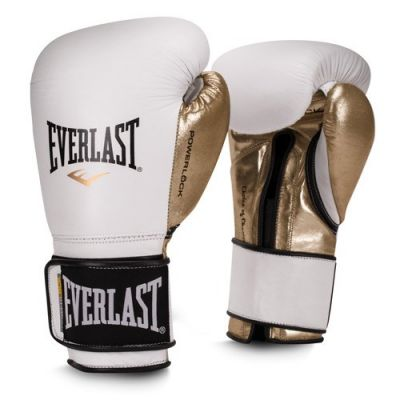 Rękawice Sparringowe EVERLAST POWERLOCK WHITE/GOLD 10 OZ