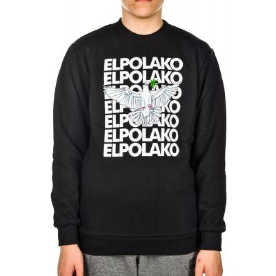 Bluza Bez Kaptura EL POLAKO Bird Black