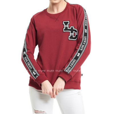 BLUZA  LUCKY DICE CREWNECK TAPE LD GIRL RUBY