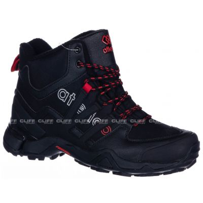BUTY ATLETICO BLACK RED 8022