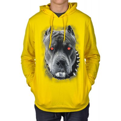 Bluza Kangur CLUB JU Dog Yellow