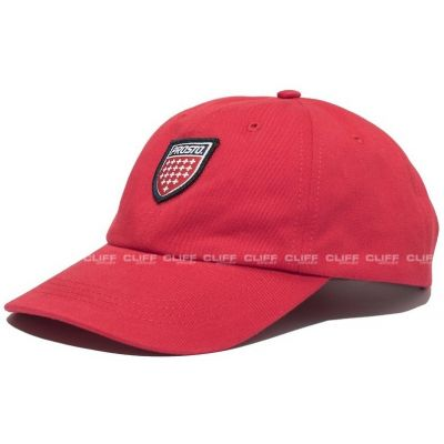 Czapka 6 panel shield red