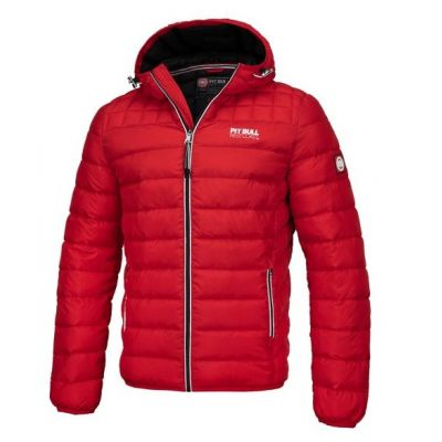 Kutka padded hooded jacket seacoast red