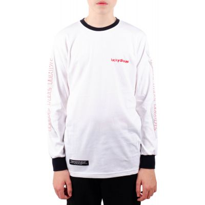 Longsleeve ride the wave LD one white red