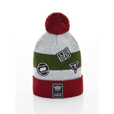 CZAPKA ZIMOWA LUCKY DICE WINTER HAT EMBLEMS GREEN
