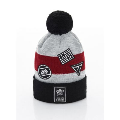 CZAPKA ZIMOWA LUCKY DICE WINTER HAT EMBLEMS RUBY