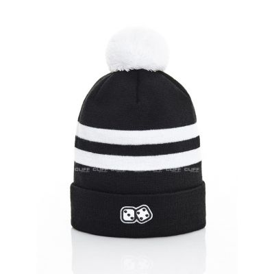 CZAPKA ZIMOWA LUCKY DICE WINTER HAT 2 STRIPES BLACK