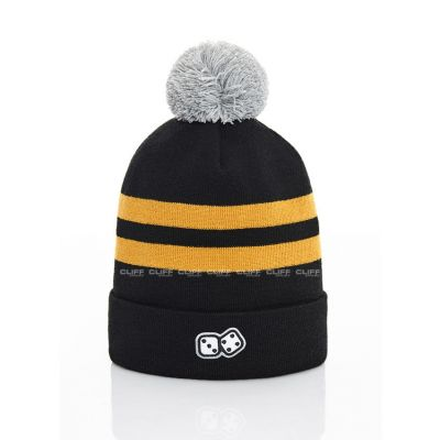 CZAPKA ZIMOWA LUCKY DICE WINTER HAT 2 STRIPES BLACK HONEY