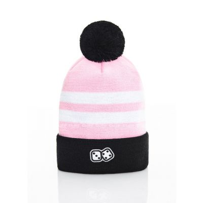CZAPKA ZIMOWA LUCKY DICE WINTER HAT 2 STRIPES PINK