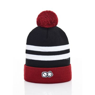 CZAPKA ZIMOWA LUCKY DICE WINTER HAT 2 STRIPES RUBY