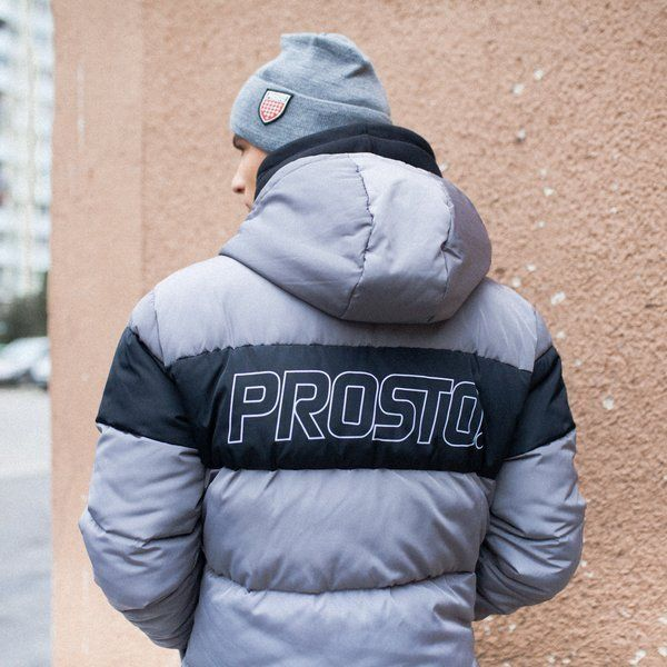 Kurtka Zimowa PROSTO Winter Adament FW20 Black&Grey
